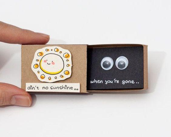 Lustig fehlt Sie Card / Karte / Geschenk hübsch Denk an von shop3xu