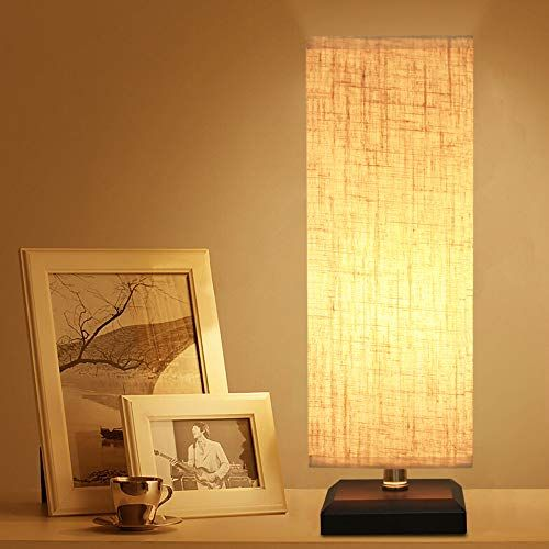 ZEEFO Table Lamp, Bedside Desk Lamp