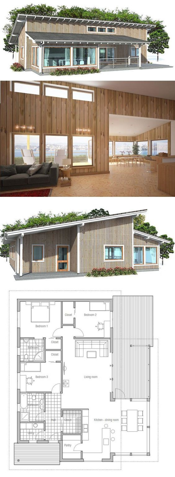 Small home design  Simple lines and spacious interior areas  Small    Simple lines and spacious interior areas  Small house plan   affordable