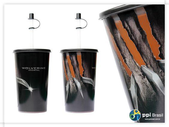 Copo com label transparente Wolverine para a rede de restaurantes Giraffas (2013)