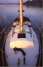 Amazing sailing in 20 feet. The Flicka 20. Since I want to live aboard mine, I would want something about 40 ft but I love this shot.