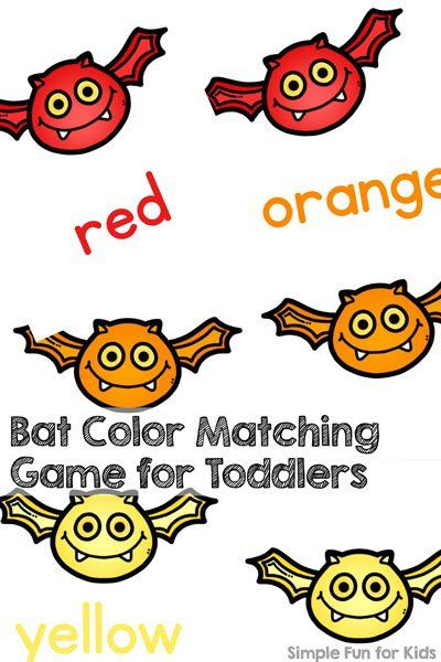 This simple printable game is so much fun for my two-year-old: Bat ...