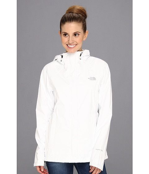 North Face Womens Venture Jacket Sz Large TNF White Rain Coat ...