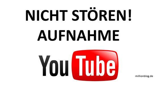 Nicht stören - YouTube Aufnahme