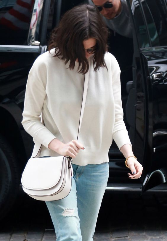 Anne Hathaway seen as she back to her hotel in NYC