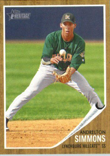 2011 Topps Heritage Minors #1 Andrelton Simmons - Lynchburg Hillcats (Prospect / Rookie Card) (Baseball Cards) by Topps Heritage Minors. $1.67. 2011 Topps Heritage Minors #1 Andrelton Simmons - Lynchburg Hillcats (Prospect / Rookie Card) (Baseball Cards)