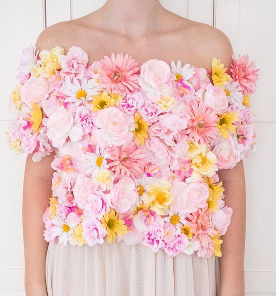 DIY Flower Crop Top