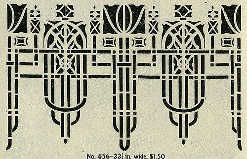 Arts crafts stencil tulip 2 par daily bungalow for Arts and crafts stencils craftsman