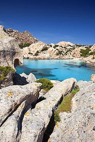 Tahiti beach, Cala Coticcio, Caprera Island, Arcipelago della Maddalena National Park, La Maddalena, Sardinia, Italy, Europe: