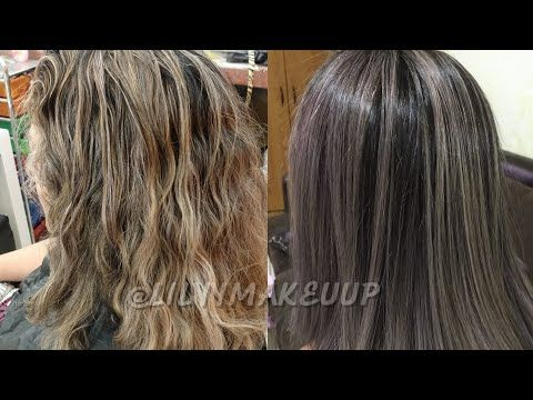 Bano De Color Para Cabello Con Mechas Lilyymakeuup Youtube En