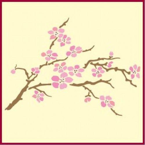 Cherry Blossom Stencil Cherry Blossom Stencils Japanese Stencil Designs Flower Stencil Tree Stencil Stencil Designs
