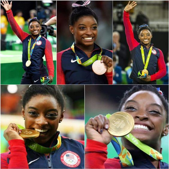 Simone Biles did it! She won Gold in her final event in Rio today and became the first U.S. woman to win four gold gymnastics medals in a single Olympic Games. Biles ended her incredible Olympic journey with a total of five medals (4 gold, and 1 bronze).   Way to go, Simone! Thank you for showing us all what can happen when you believe in yourself and your dreams.   #becauseofthemwecan #blackgirlmagic #rio2016