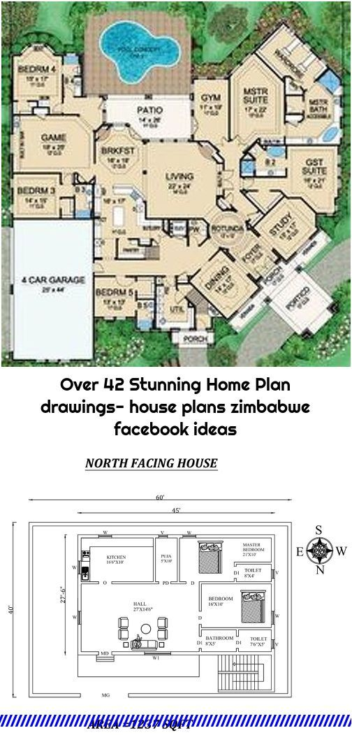 Over 42 Stunning Home Plan Drawings House Plans Zimbabwe Facebook Ideas In 2020 Home Plan Drawing Drawing House Plans House Plans