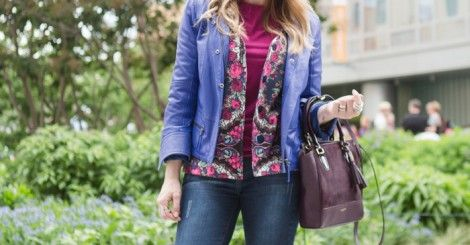 Look jaqueta azul