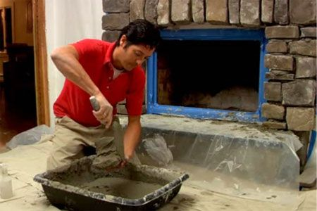 How To Install A Stone Veneer Fireplace Surround Editor