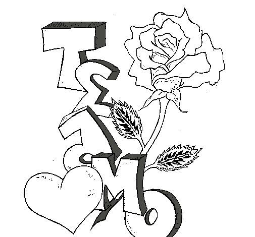 Dibujos Faciles De Amor A Lapiz Kawaii Para Dibujar Imprimir Colorear Colorear Imagenes Dibujos Faciles De Amor Dibujos De Amor Te Amo Dibujo