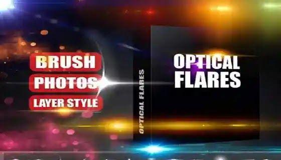 فرش تأثيرات مضيئة لبرنامج فوتوشوب لإضافة التأثيرات للتصميم Optical Flares Brushes Optical Flares Photo Layers Photo