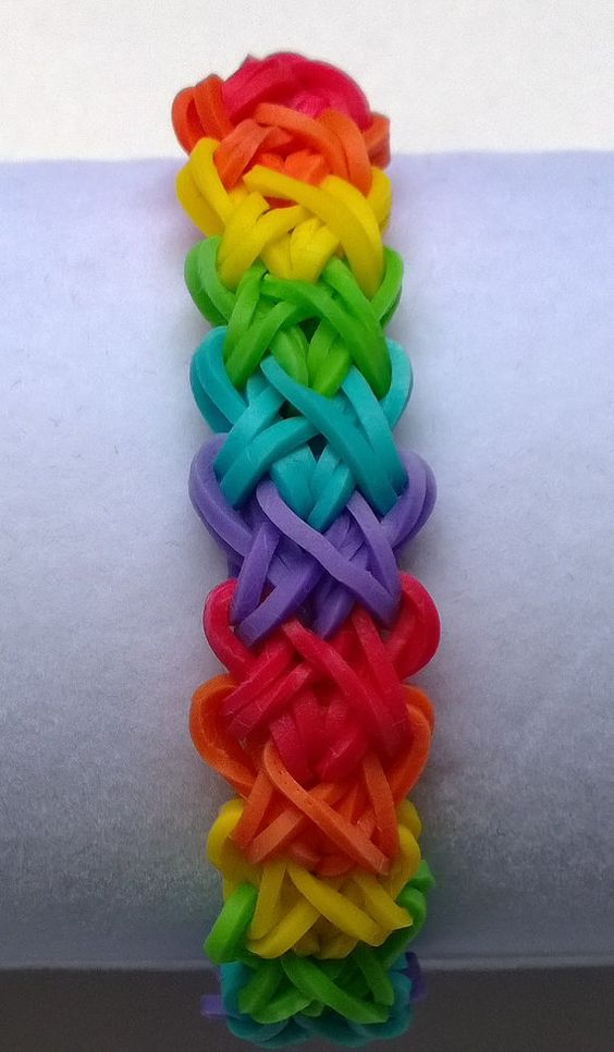 Arc-en-ciel Loom bande DoubleX Double X Design par AshleysBands