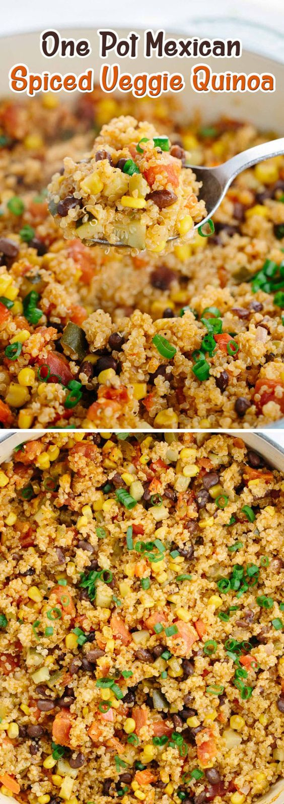 One Pot Mexican Spiced Veggie Quinoa