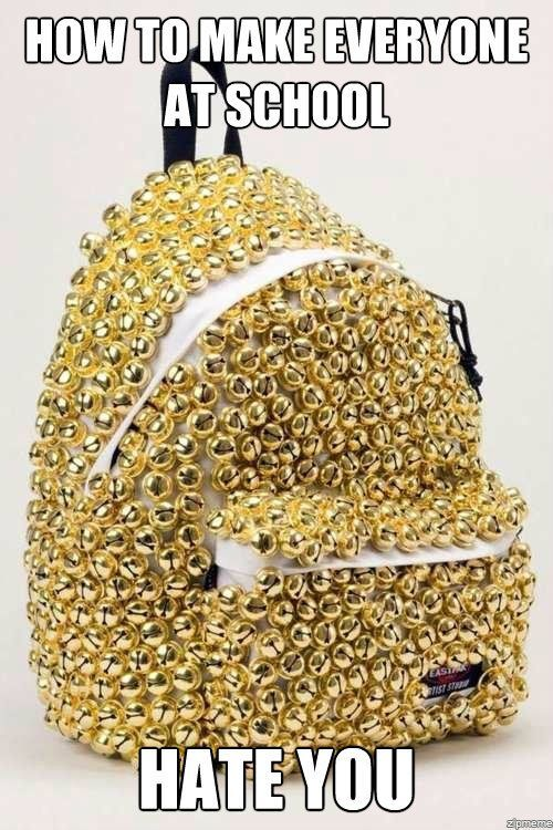 Must buy a dollar store backpack and do this the first week of school, the week before christmas holidays and the last week of school!!!!
