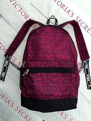 New Victoria's Secret PINK Campus Canvas Backpack Book Bag Tote Maroon
