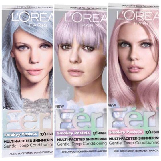 L39Oreal Feria Smokey Pastels Haircolor Choose 1 Of 3 Shades Smokey Blue