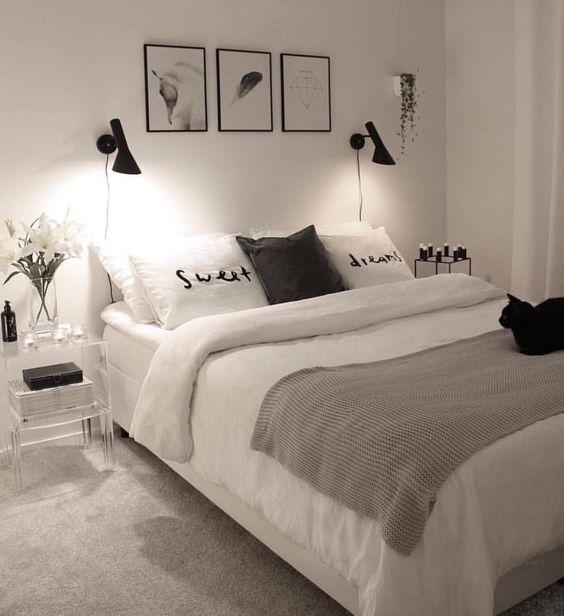slaapkamer met sfeerverlichting