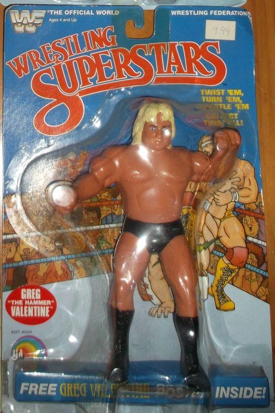 vintage wwf ljn titan sports greg the hammer valentine wwe moc wrestling figure  ljn