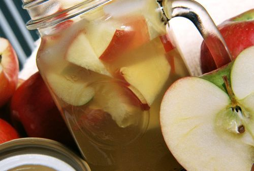 Apple-Brandytini  This one packs a punch and when the apple nuggets soak up the alcohol, oohh yeah, make sure you eat a little something besides the fruit like my Apple Cranberry Pork Chops!