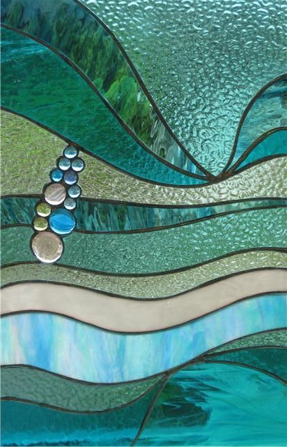 Beautiful STAINED GLASS - love the subtlety of the colours