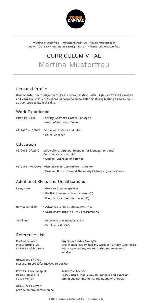 Lebenslauf Englisch Gute Kenntnisse Lebenslauf 6
