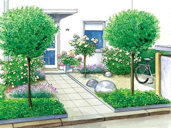 ein vorgarten wird zum gartenhof b ume oder und spazierg nge. Black Bedroom Furniture Sets. Home Design Ideas