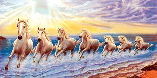 Vastu Poster Graphics Machine Manufacturer White 7 Horse Https Www Amazon In Dp B078wsb27k Ref C Seven Horses Painting Horse Wallpaper Painting Wallpaper Full hd wallpaper 7 horse