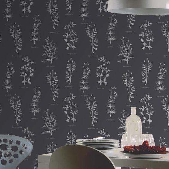 papier peint vinyle sur expans herbier gris fonc castorama papiers peints pinterest. Black Bedroom Furniture Sets. Home Design Ideas