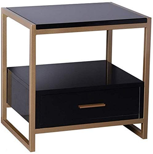 Amazing Offer On Zj Dong Bedside Table Bedside Table Simple Painted Square Wrought Iron Small Table Simple Bedroom Bedside Cabinet Sofa Side Cabinet Suitable In 2020 Bedroom Bedside Cabinets Simple Bedroom