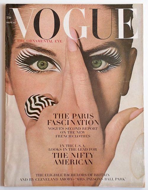 Vogue-September 1964  Vogue Fashion Magazine,September 1964. Cover Model:Veronica Hamel.: