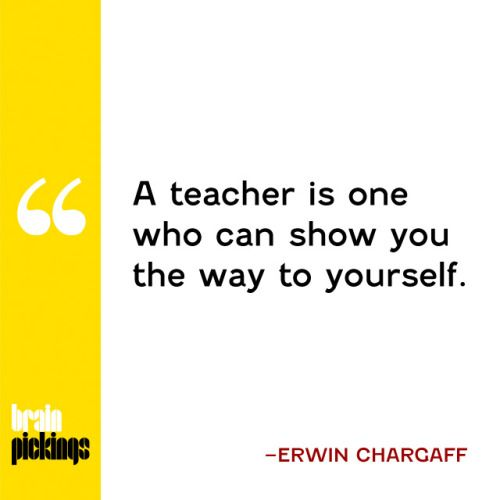 Pioneering scientist Erwin Chargaff on what makes a great teacher.