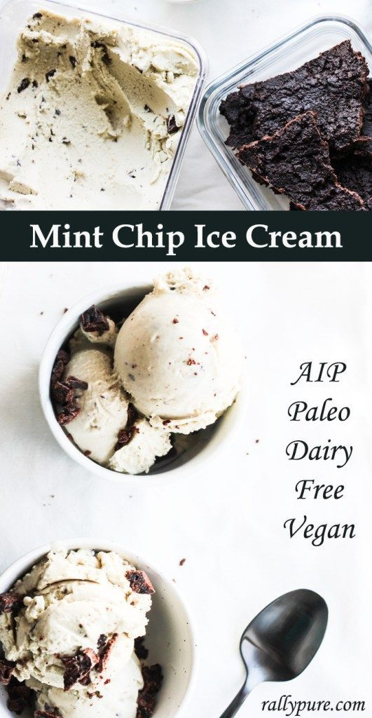 Mint Chocolate Chip Ice Cream Two Ways Dairy Free Aip And