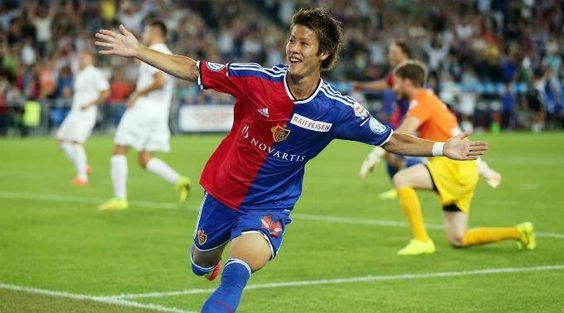 Auf fussball.ch FC Basel 4 : FC Zürich 1 (09.08.2014) Neuzugang Yoichiro Kakitani markierte seinen ersten Treffer im FCB-Dress. (Foto by giuse)