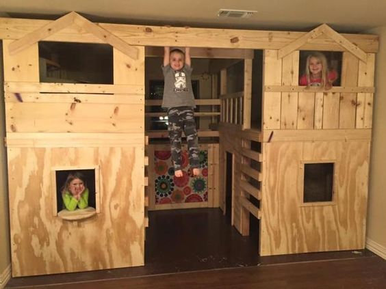 Brannum 39 s indoor basement playground with monkey bars do Do it yourself bars for basements