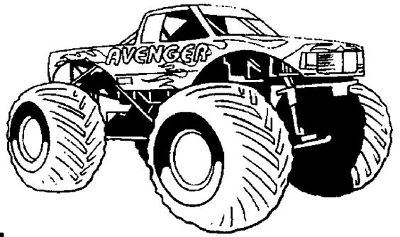 monster trucks coloring pages 01