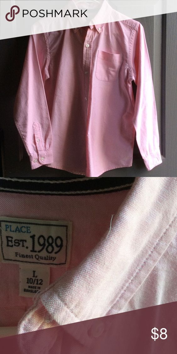 Boys Pink Dress Shirt Perfect condition. Bundle for better deal. Children's Place Shirts & Tops Button Down Shirts