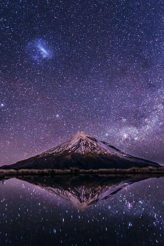 Mt. Taranaki at night