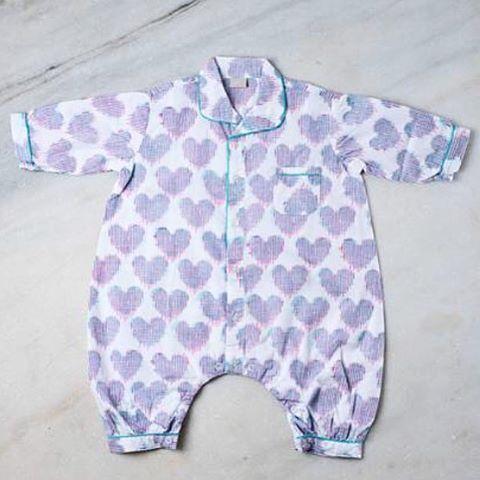 Ikat heart baby suit- new to our website! #ecru #baby #lilones #heart #ikat #design #decor #inspiration