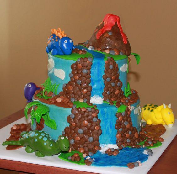 Chocolate Lava Cake Decoration : Dinosaur birthday cakes, Dinosaur birthday and Birthday ...