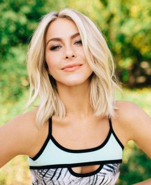 Julianne Hough Shoulder Length Bob Hair Styles Blonde Haircuts Medium Length Hair Styles