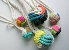 Volleyball rope knot necklace