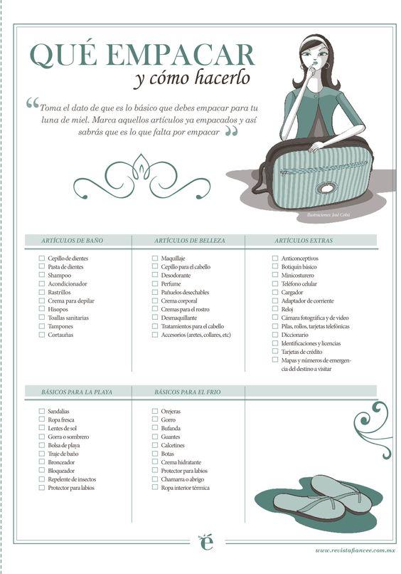 ¿Ya sabes qué debes empacar para tu luna de miel? #LunaDeMiel #HoneyMoon…