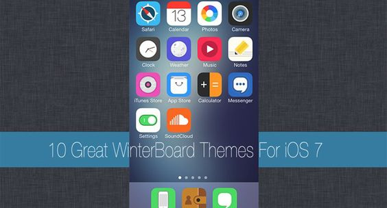 10 Great WinterBoard Themes For iOS 7 (Jailbreak)