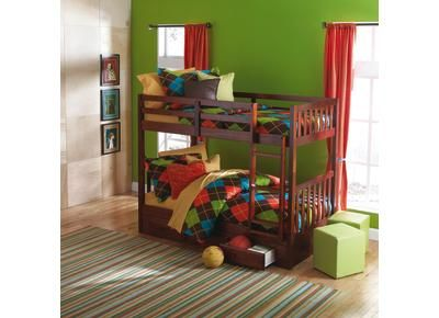 love the colors badcock - forrester twin/twin bunkbed | kidstuff